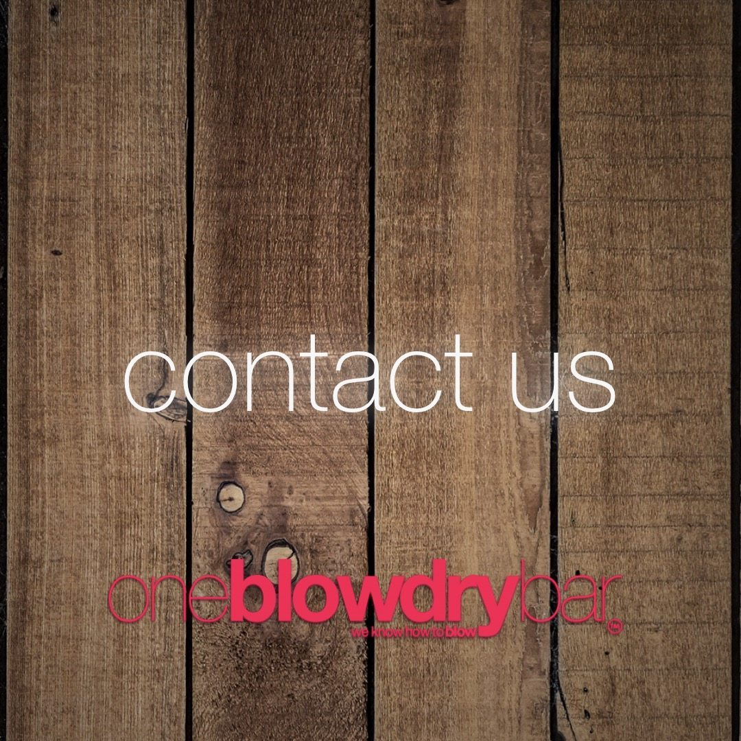 contact oneblowdrybar the ultimate brand of the blow dry bar on the east-coast in red bank new jersey or midtown manhattan