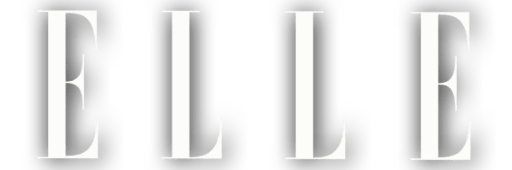 ELLE Magazine Trademark Logo in White
