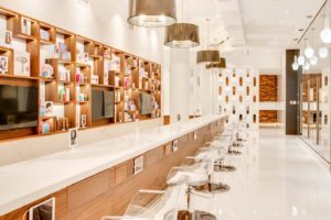 Macys herald square blow dry bar and blow out hair salon called oneblowdrybar located on Macys one below