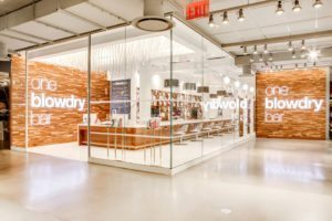 one blow dry bar at macys herald square in new york city on west 34th st