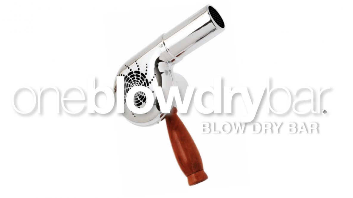 oneblowdrybar blow dry-bar brand of blow-out hair salon for blow-dry hair styling, brazilian blowout smoothing treatments, full face makeup services.